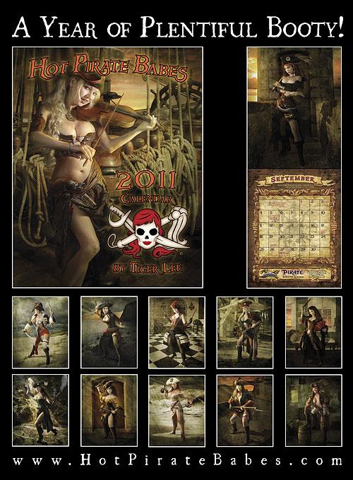 Hot Pirate Babes 2011 calendar