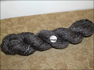 Black alpaca-silk handspun