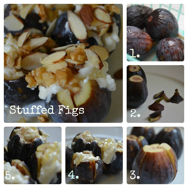Stuffed Figs Collage enumerated