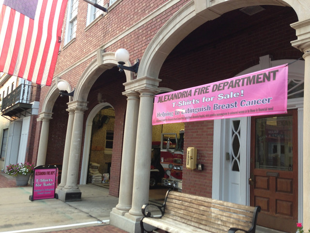 Alexandria Fire Department T-Shirts To Help Extinguish Breast Cancer