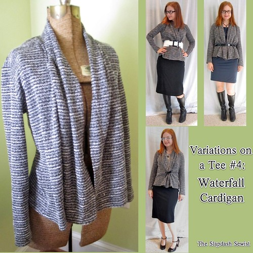 The Slapdash Sewist: Variations on a Tee #4: Waterfall Cardigan ...