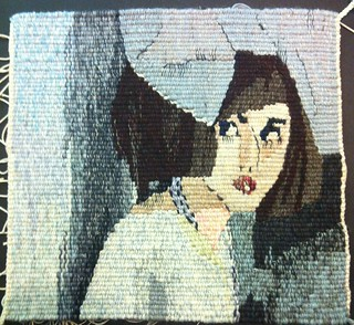 You Know Me Better, woven tapestry by Mardi Nowak