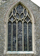 The five-light east window, the Church of St Peter and St Paul, Swaffham, Norfolk, England