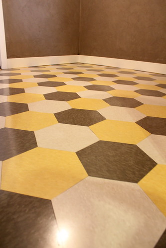 Unexpected Hexagon Flooring Finished Kara Paslay Design