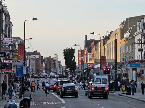 Traffic on Camden High Street