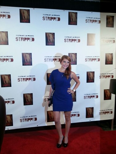 Electra Avellan at the red carpet premiere of the movie Stripped, presented by Electra Avellan!