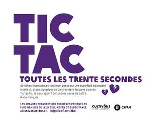 Tic Tac : toutes les 30 secondes une surface de terre équivalente au Stade Olympique de Londres est achetée par de riches investisseurs