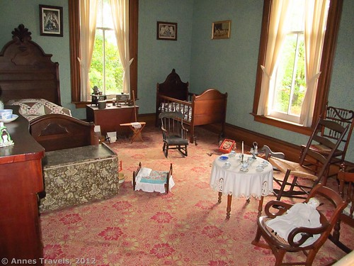 Child's bedroom in the Hamilton House, Genesee Country Village & Museum, Mumford, New York