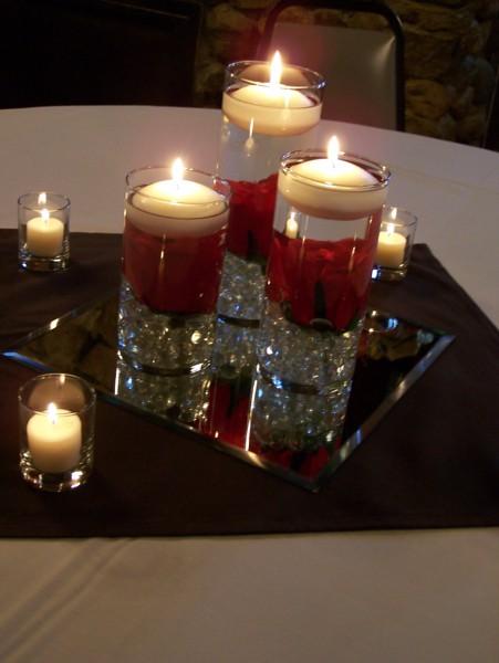 gemas de cristal para centro de mesa.