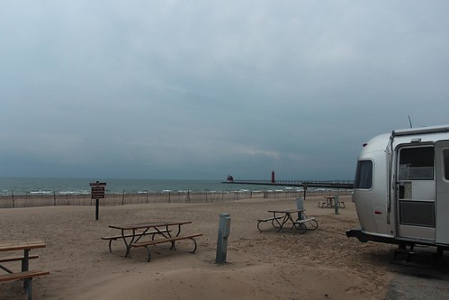 Day 62: Back to the beach at Grand Haven, Michigan.