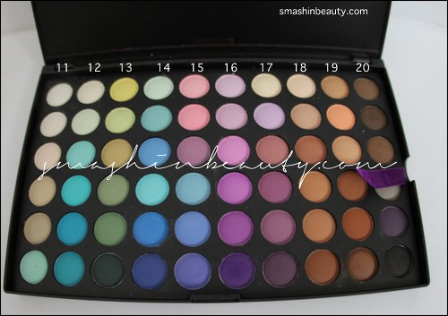 120 matte palette review swatches blush professional 2
