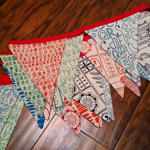 282:365 Summersville bunting: a #lastminute #sewingsummit project