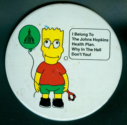 Bart Simpson JHUHP button