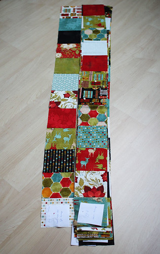 20121010 Christmas quilt in progress