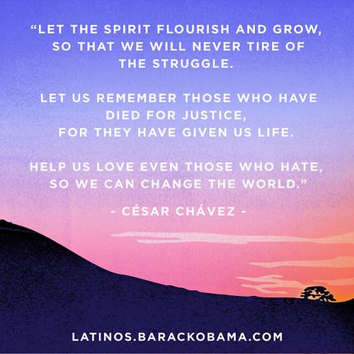 Cesar Chavez dedication