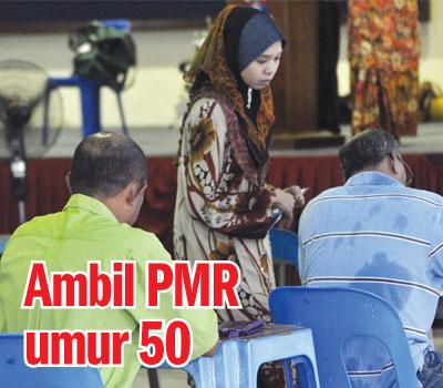 Pak Cik umur 50 Ambil PMR 2012