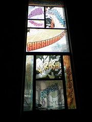 slot machine(0.0), poster(0.0), art(1.0), window(1.0), glass(1.0), stained glass(1.0),