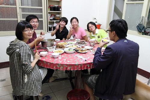 林校長家吃國慶晚宴