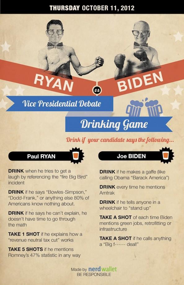 Vice Presidential Debate Drinking Game