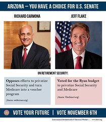 AZ: Richard Carmona v. Jeff Flake on Social Security and Medicare by IBEW_IO