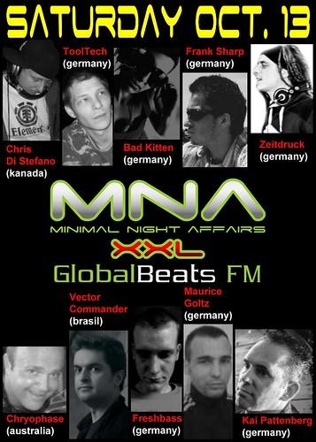 MINIMAL NIGHT AFFAIRS XXL - Programa de 1 ano com Vector Commander na GlobalBeats Fm Alemanha - 13-10-2012