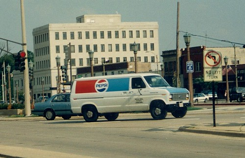 Pepsi Cola Ford Econoline sales rep van.  Elmhurst Illinois.  August 1988. by Eddie from Chicago