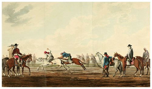 010-Carrera de caballos-Picturesque illustrations of Buenos Ayres and Monte Video..-1820- Emeric Essex Vidal