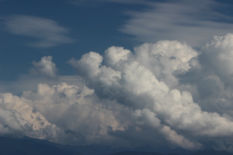 浜黒崎キャンプ場沿い 雲