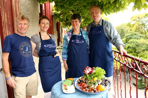Geof, Angie, Penny & Richard with their Market Produce