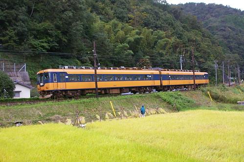 Oigawa Railway 16000 series near Fukuyo in Shimada, Shizuoka, Japan /Oct 7, 2012