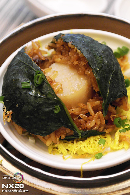 lai po heen Sun dried scallops glutinous rice opened
