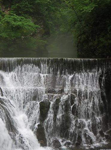 20120609_16 Misty river behind waterfall | Vintgar Gorge, Slovenia