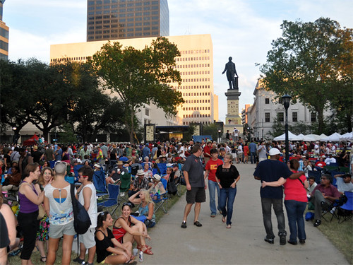 Blues and BBQ Fest Crowd