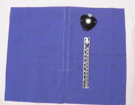 Chalked stitching line
