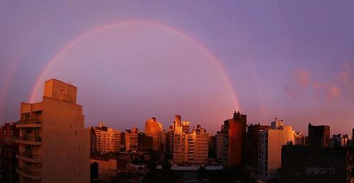 sol argentina arcoiris atardecer lluvia rainbow ciudad cielo rosario multicolor