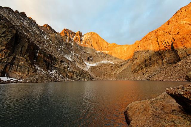 Longs peak from chasm lake rocky mountain national park for Best fishing near denver