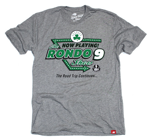 Boston Celtics Rondo T Shirt By Sportiqe