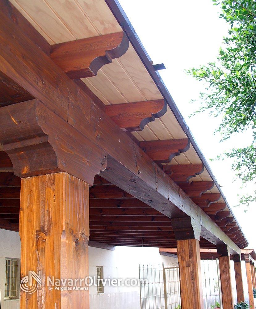 Navarrolivier estructuras de madera pergolas y 39 s most - Pergolas rusticas de madera ...