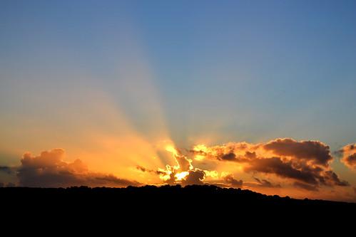 sunset sky sun wales ceredigion llandewibrefi