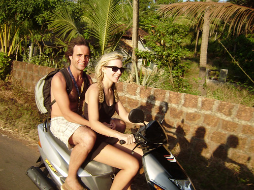 Hannah and Lee in Goa