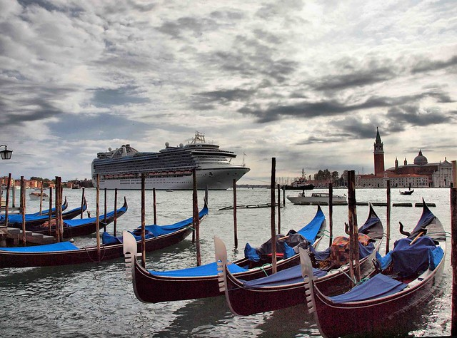 Ruby Princess Arriving at Venice