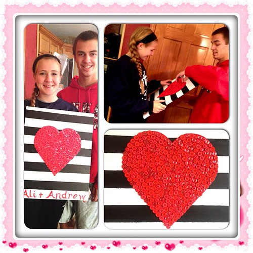 My son and his girlfriend. He made this for her for Sweetest Day!!