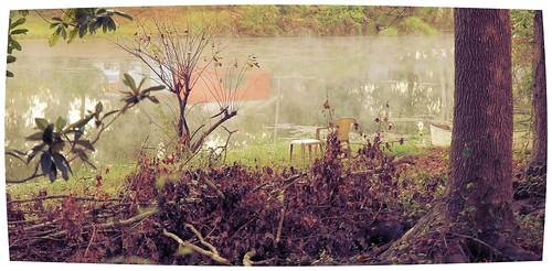 mist lake water fog sunrise pond florida swamp