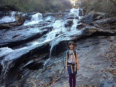 Sophie at Holcomb Creek Falls
