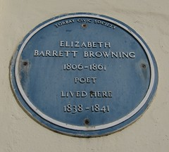 Photo of Elizabeth Barrett Browning blue plaque