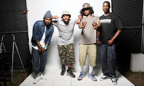 Black Hippy … (from left) Jay Rock, Schoolboy Q, Kendrick Lamar and Ab-Soul.