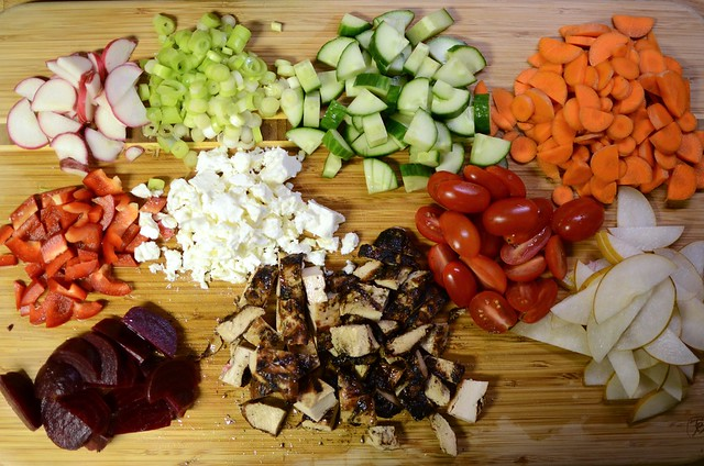 cutting board salad bar