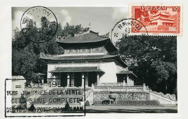Vietnam's Temple HUNG VUONG Saigon 1951