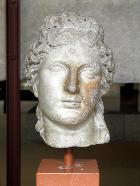 Head of the god Apollo, protector of the arts, 2nd century A.D., Romisch-Germanisches Museum, Cologne