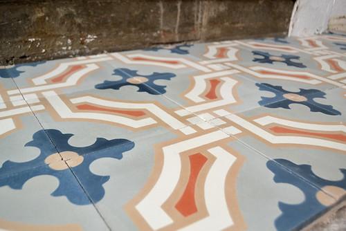 Laid Cement Tiles